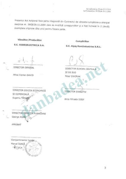 ALPIQ ROMINDUSTRIES SRL: Actul Aditional nr. 19/20.12.2010
