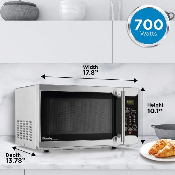 danby designer 0 7 cu ft microwave