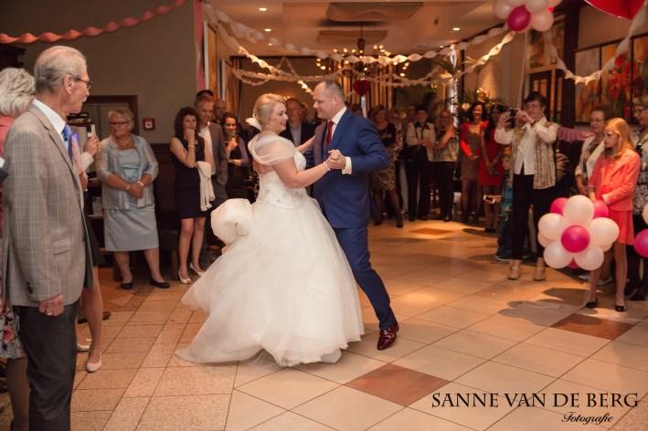 Openingsdans bruiloft Harald en Mariska
