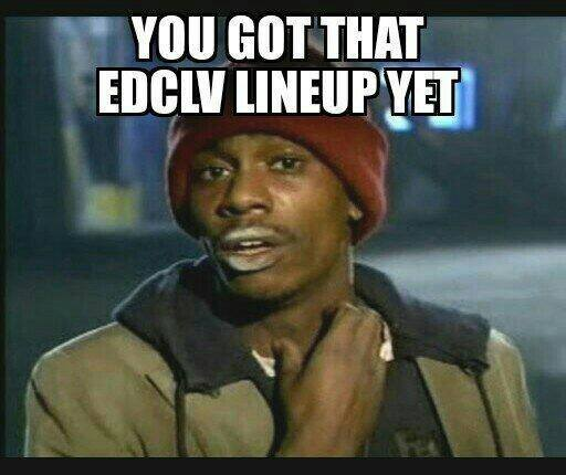 chappelle top 10 ways the internet reacted to the edc las vegas lineup