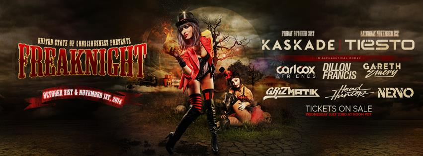 Freaknight 2014 Phase 1 Lineup