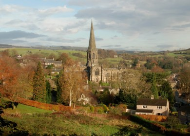 The disputed parish of Bakewell, Derbyshire. ~ Copyright Rob Bendall