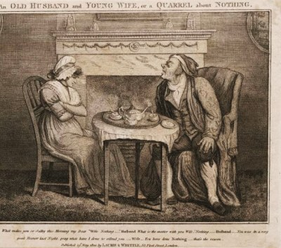 'An old husband and young wife, or, a quarrel about nothing' (Lewis Walpole Library)
