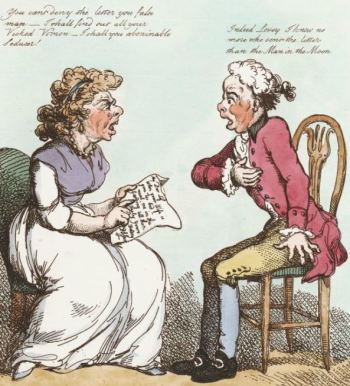 'An anonymous letter' (Lewis Walpole Library)