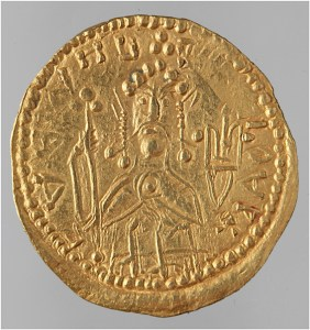 A gold coin of Vladimir the Great