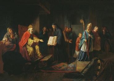Vladimir choosing a religion ~ Ivan Eggink (1822)
