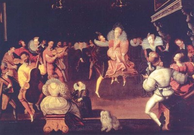 Several couples dancing the la volta, late 16th century. The participants have not been identified, but the painting is certainly of the French Valois school