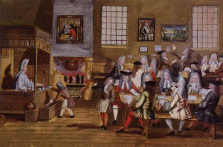 17th-century London coffee-house