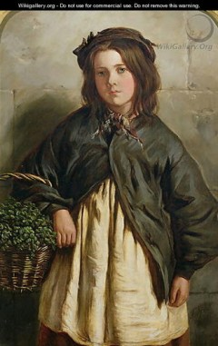 Idealised depiction of a young watercress seller ~ Frederick Ifold, 1867