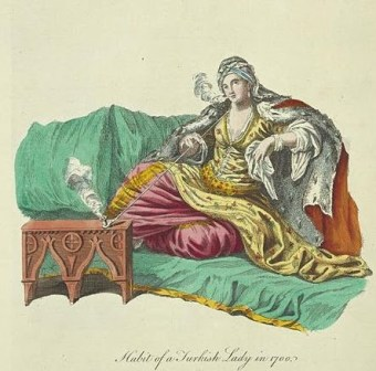 European print of a Turkish woman, early 18th century