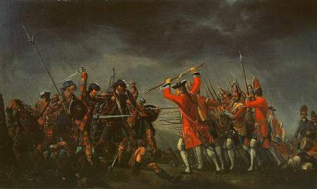 1746 depiction of the Battle of Culloden