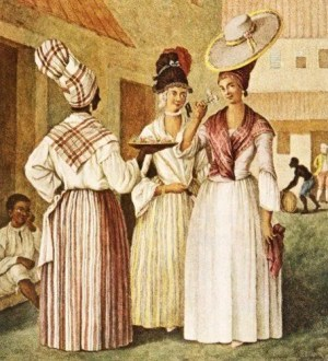 18th-century mulatto women of mixed descent