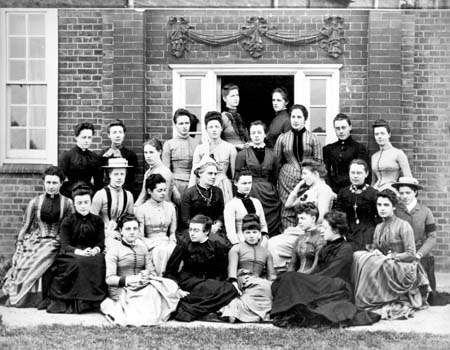 Students at Lady Margaret Hall, one of the first women's colleges in Oxford (late 19th century)