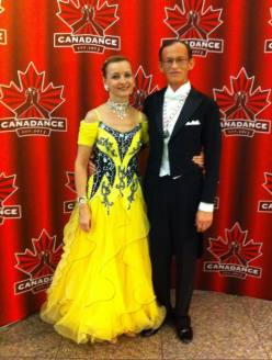 Irena and Vladimir, Bronze medalists in Senior Standard (Ballroom) Category