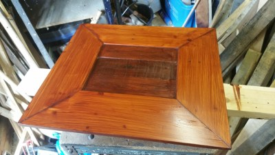 A few coats of teak interior stain