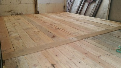 Completed floorboards