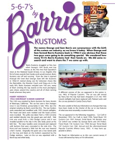 Barris Kustoms Article
