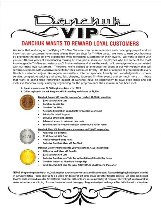 Danchuk VIP Program