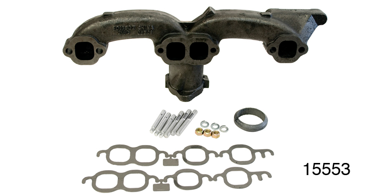 1955 1957 chevy rams horn exhaust manifold 2