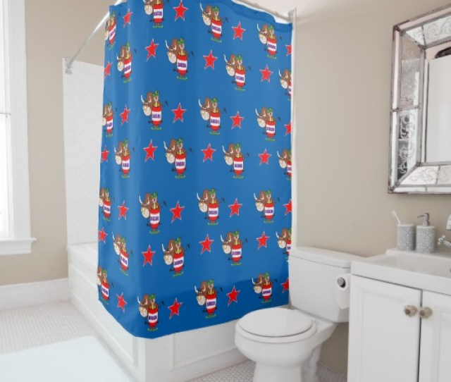 Western Country And Rustic Print Shower Curtains