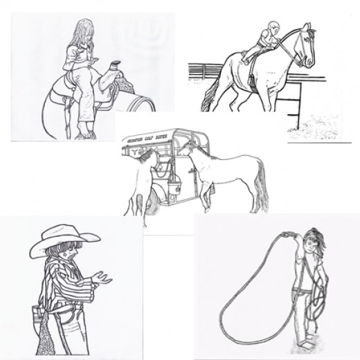 Rodeo Coloring Pages Free Printables Cowboys And