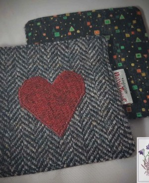 Harris Tweed coaster: Love
