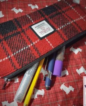 Harris Tweed pencil case: McIver