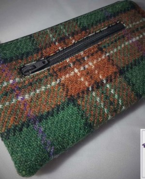 Harris Tweed purse:Autumn check