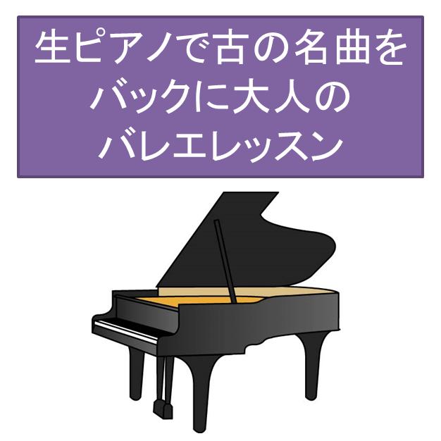 生ピアノで古の名曲をバックに大人のバレエレッスン