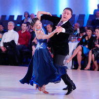 Melina and George competitive dance performance