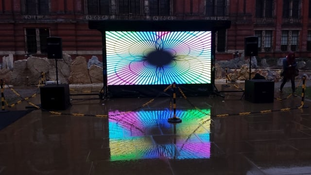 Outdoor Led Video Wall Hire London Outdoor Event Video Wall Hire