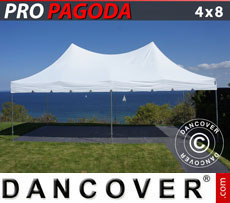 Pop up gazebo FleXtents PRO Peak Pagoda 4x8 m White