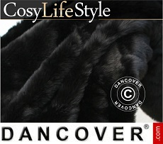 Faux Fur Blanket 130x165 cm Black
