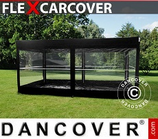 Folding garage FleX Carcovers, 2.6x5.14 m, Black