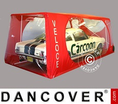 Carcoon Veloce 6.38 x 2.3 m Clear/Red, Indoor