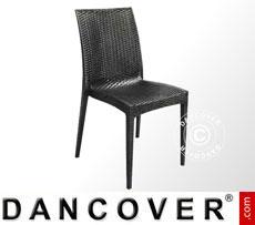 Chair, Rattan Bistrot, Anthracite, 6 pcs.