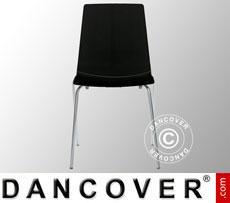 Chair, Lollipop, Glossy black, 6 pcs.