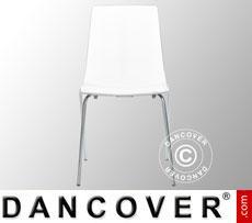 Chair, Lollipop, Glossy white, 6 pcs.