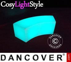 Event furniture: LED Sofa Glow 120x43x43cm