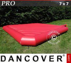 Bouncy cushion 7x7m, Red, rental quality