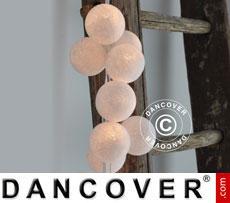Happylights, 35 balls, white/creme coloured