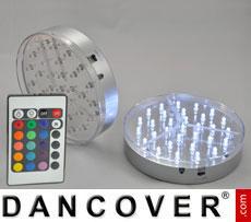 LED light base (2 pcs.), DIA 15 cm, multicoloured