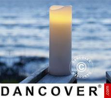 LED Wax Candle, VENUS, Ø10x30 cm, White, 2 pcs