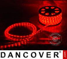 Rope light, 50m LED, Ø 1.2cm, Multifunction, Red