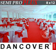 Marquee lining and leg curtain pack, white, for 8x12 m marquee Semi Pro Plus