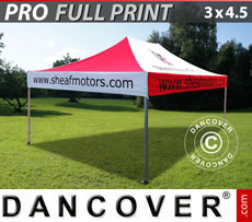 Pop up gazebo FleXtents PRO with full digital print, 3x4.5 m