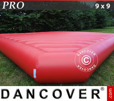 Bouncy cushion 9x9m, Red, rental quality