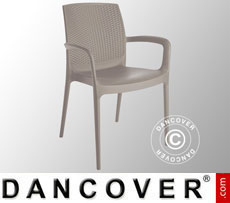 Chair with armrests, Boheme, Jute, 6 pcs.