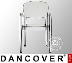 Chair with armrests, Joker, Transparent, 6 pcs.