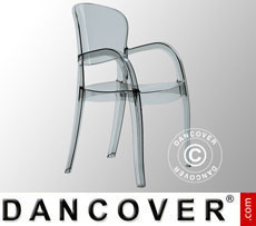 Chair with armrests, Joker, Clear Smoked, 6 pcs.